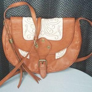 Vintage Roxy small light brown crossbody bag